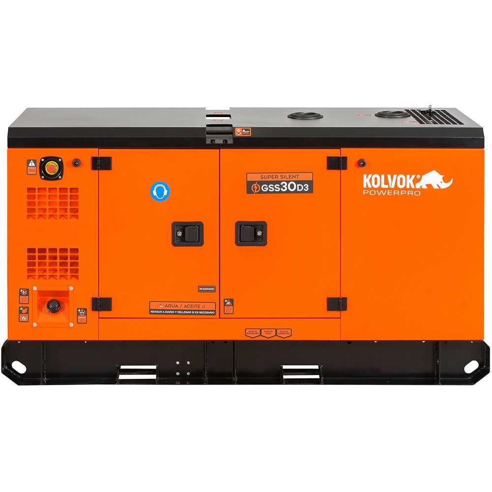 Generador Eléctrico Diesel Insonorizado Trifásico 26.400W GSS30D3 Kolvok 103011284