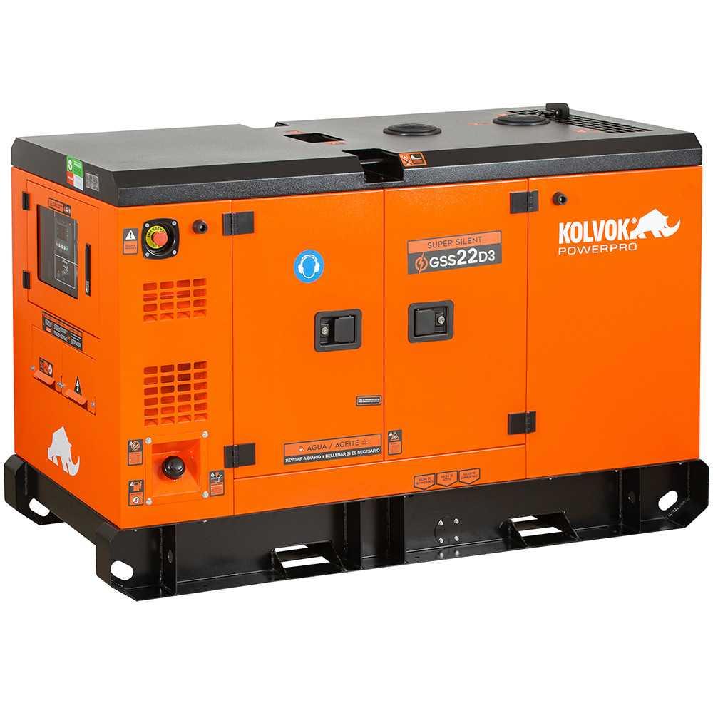 Generador Eléctrico Diesel Insonorizado Trifásico 17.500W GSS22D3 Kolvok 103011283