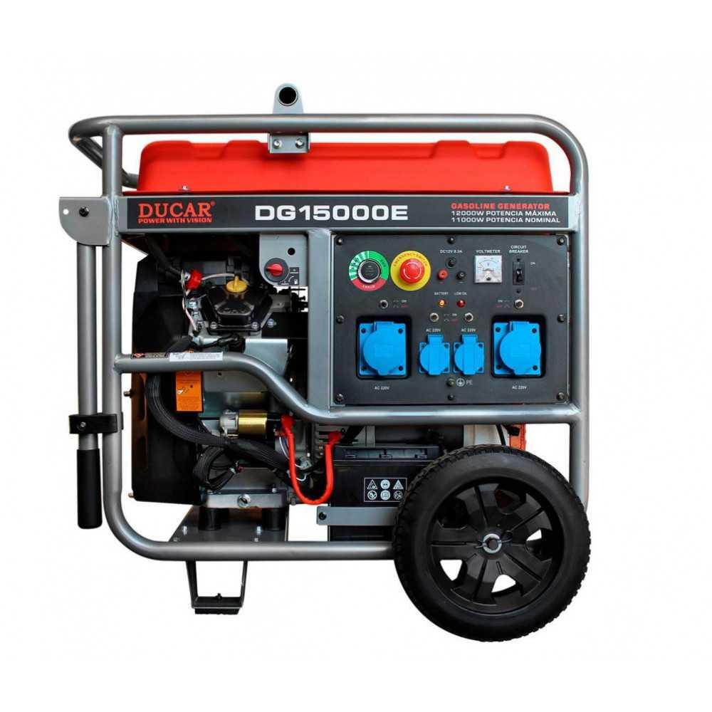 Generador Eléctrico Bencinero 11.000W Partida eléctrica DG15000E Ducar 551516