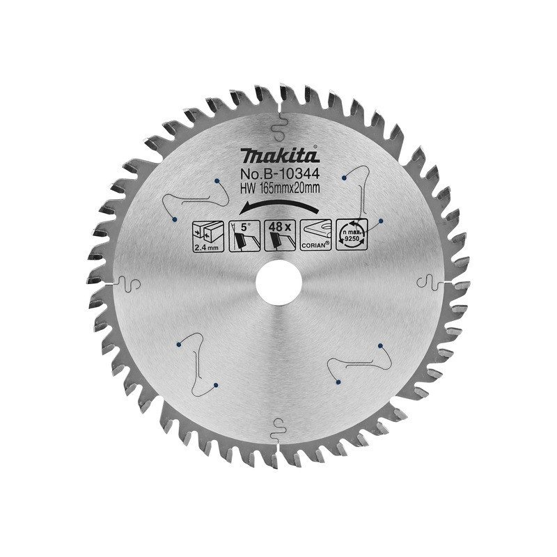 "Disco corte Materiales duros 6 1/2"" eje 20 mm Makita B-10344"