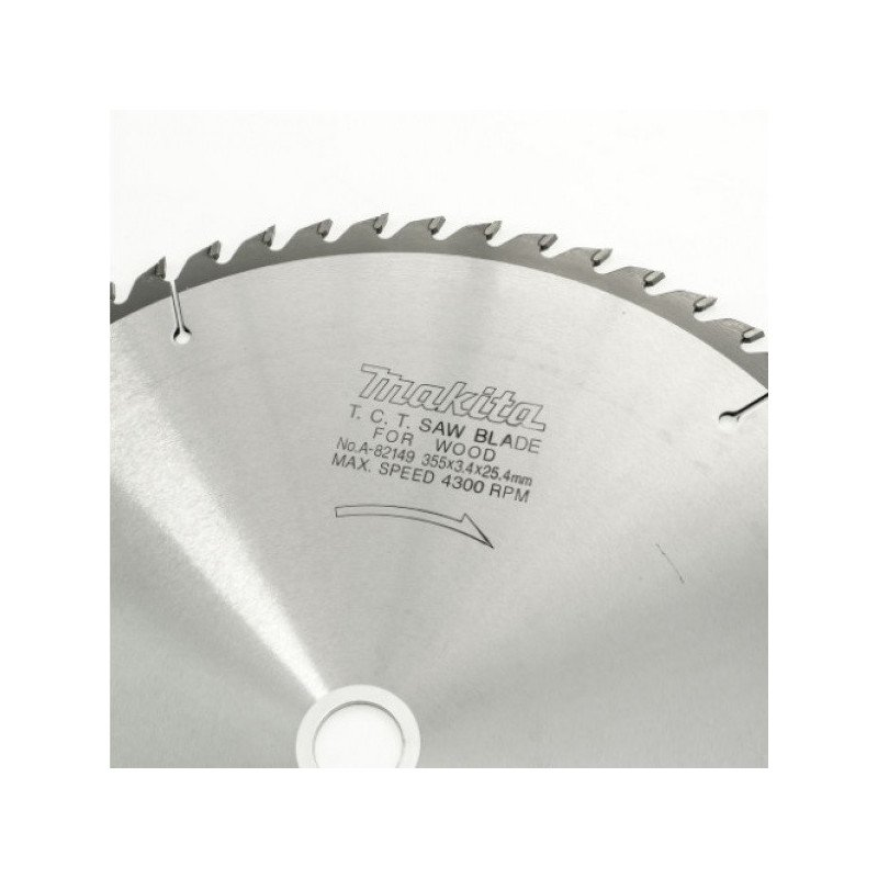 "DISCO 14"" X 60 DIENTES, EJE 25.4 mm. + BUJE 25 mm. - MADERA Makita A-82149"