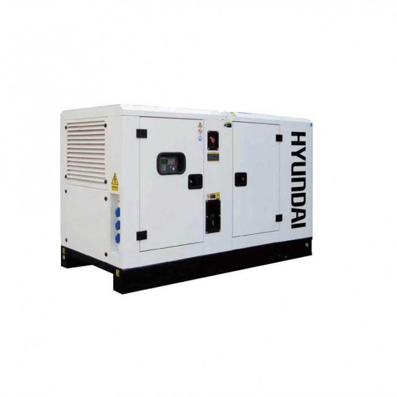 Generador Eléctrico 40 Kva Industrial 380 volts Insonorizado HYUNDAI 82HY42CH