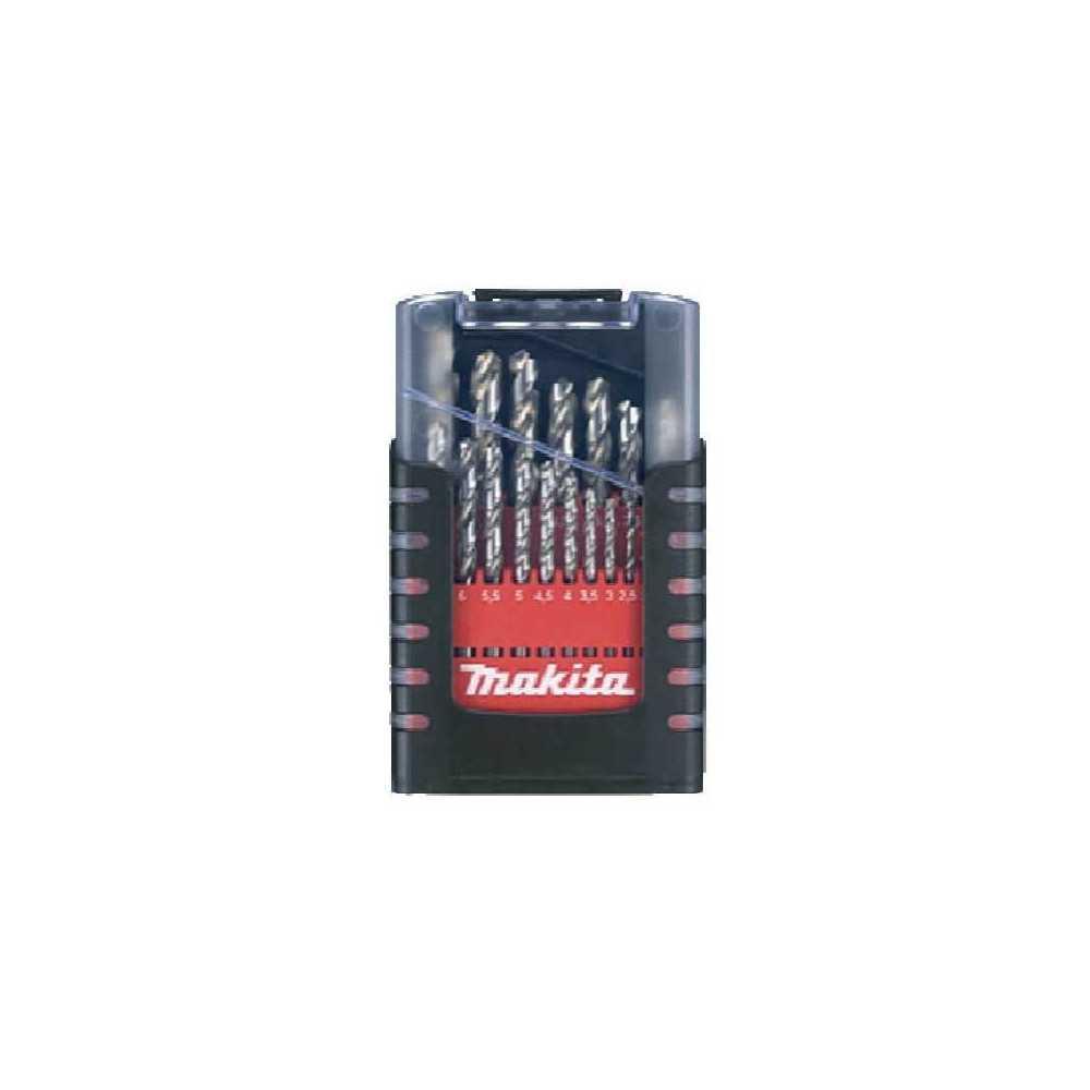 Set Brocas Metal HSS 19 piezas de 1-10mm Makita D-50740
