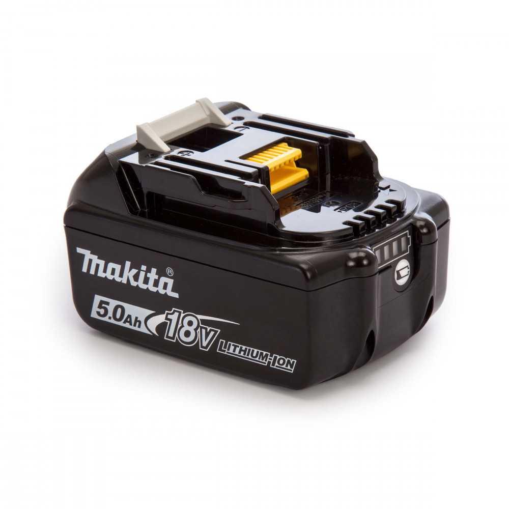 Batería 18-Volt LXT Lithium-Ion 5.0 Ah Con Indicador de Carga Makita BL1850B