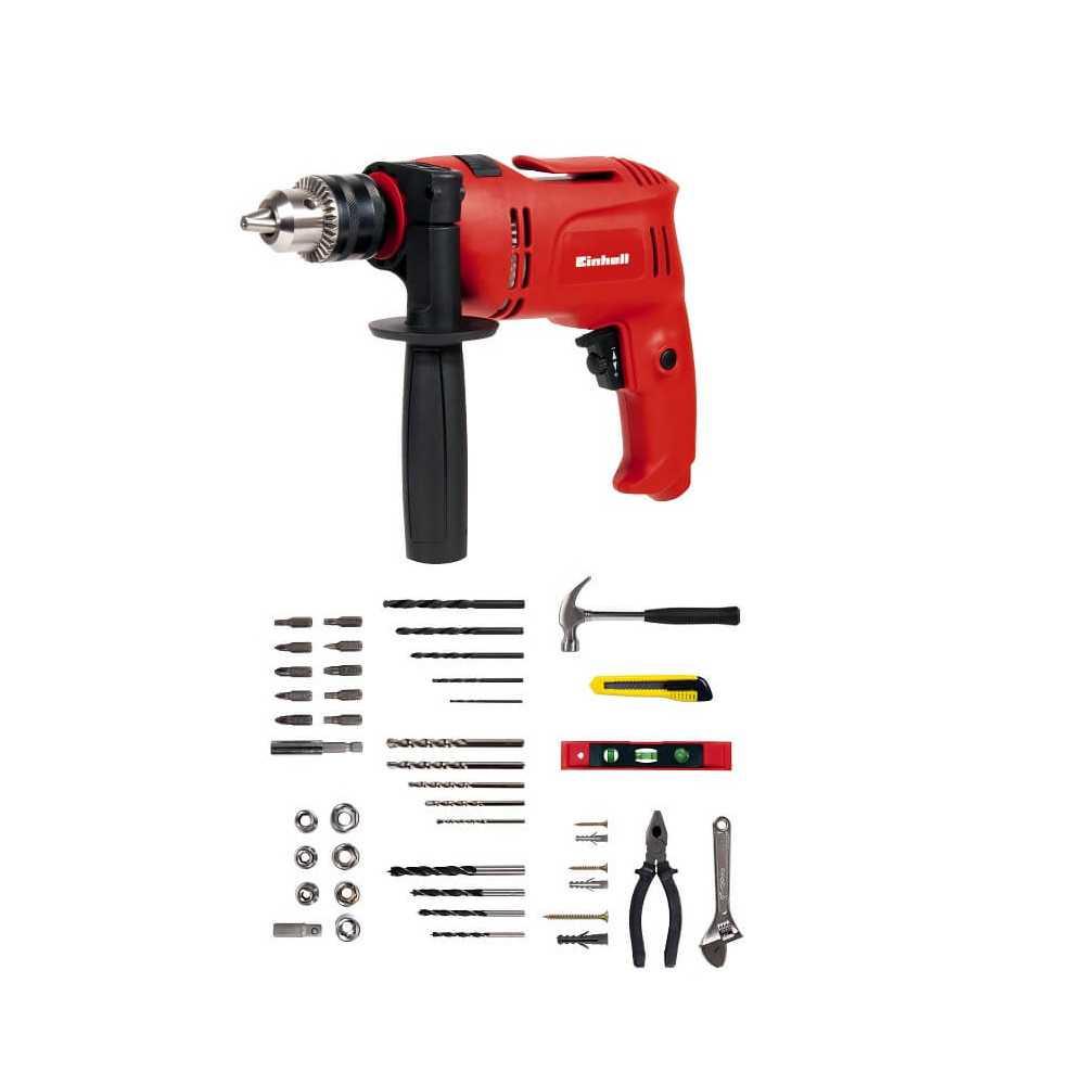 Taladro Percutor 650 W + Kit 98 Accesorios Einhell TC-ID 650 KIT