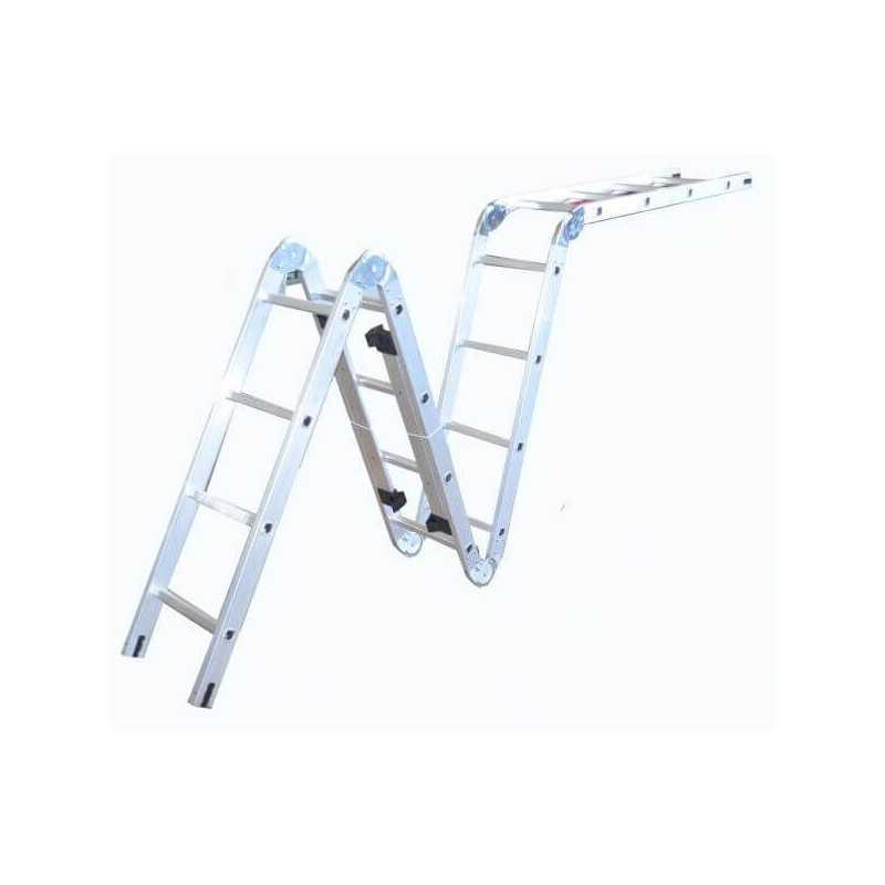 Escalera Aluminio Articulada, 4 M UyusTools ESA44YX