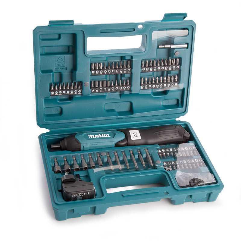 Atornillador 3,6 V 1,5 Ah Litio-ion + Cargador + 81 Accesorios Makita DF001DW