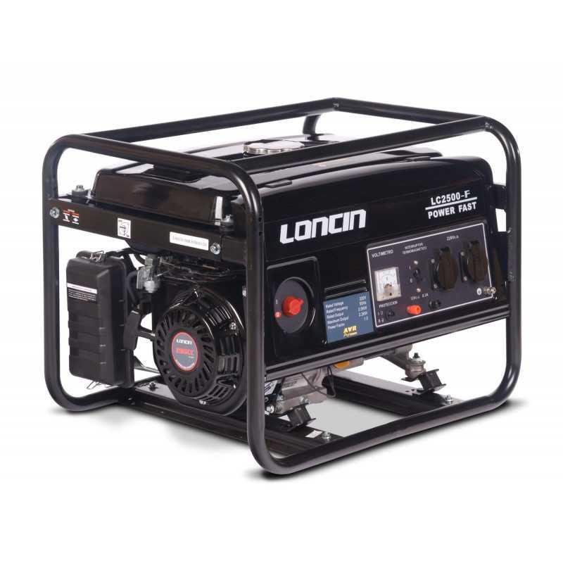 Generador Eléctrico Gasolina de 2,2 Kva Loncin LC2500F