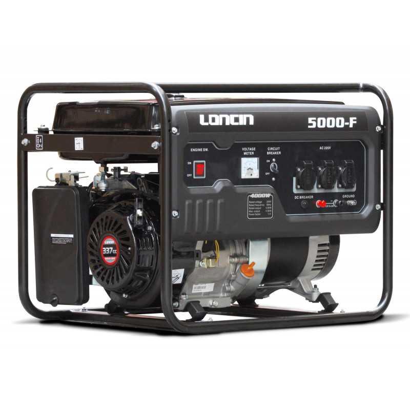 Generador Eléctrico Gasolina de 4,5 Kva Loncin LC5000DF