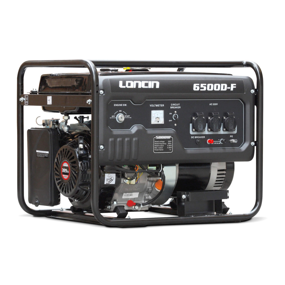 Generador Eléctrico Gasolina de 5,5 Kva Loncin LC6500DF