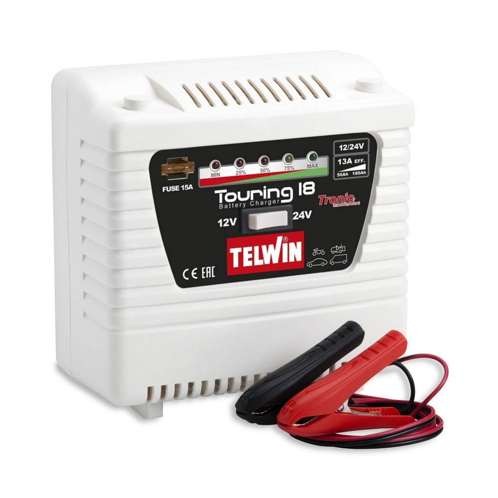 Cargador de Batería 12/24V 220V Telwin Touring 18