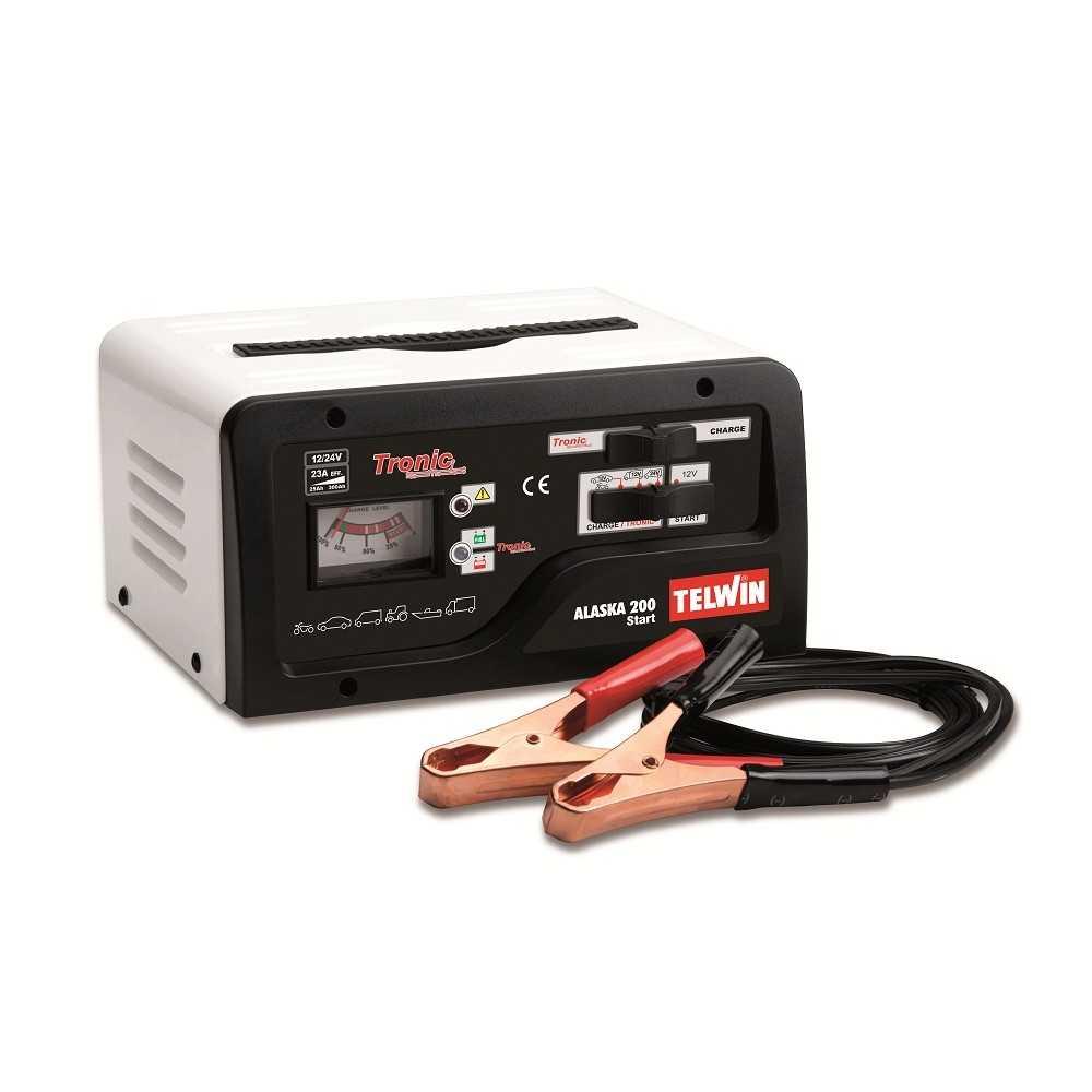 Cargador - Partidor de Batería 12/24V 220V Telwin Alaska 200
