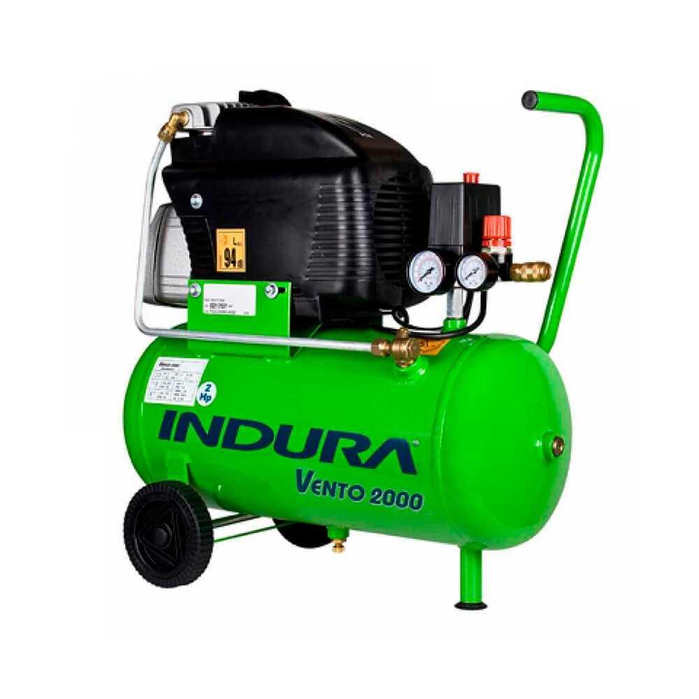 Compresor de aire 2 HP con Kit 5 piezas Indura Vento 2000 PRO