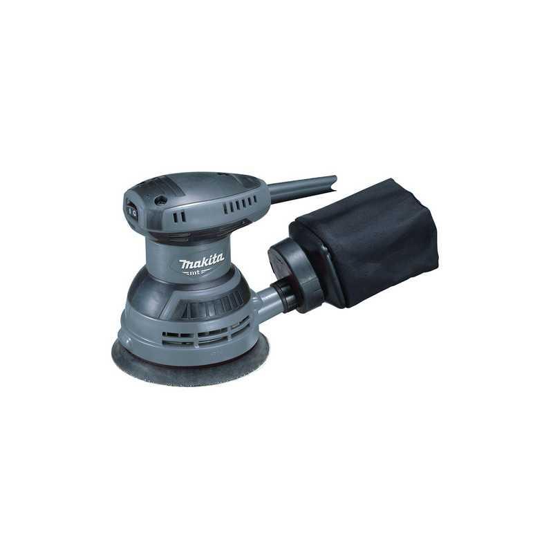 MT Lijadora Excéntrica 125 mm + Set 10 Lijas Grano 100 Makita M9204G + D-54520