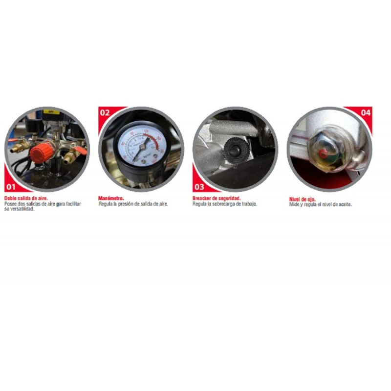 Compresor de aire 3 HP - ACK 300 Lts. 220V Krafter 4449000030030