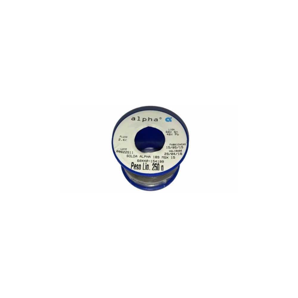 Soldadura en Rollo 0.5mm 250gr SN60PB40 Alpha 189MSX05-250