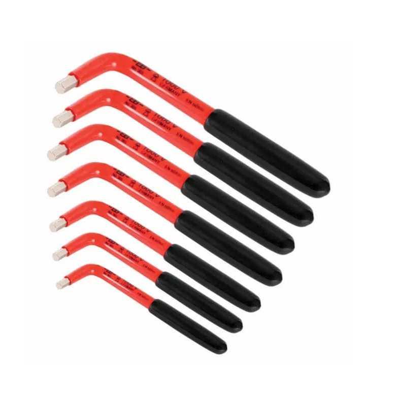 Juego de Llaves Electrónicas - 7 llaves Allen milimetricas en L Wiha 13691