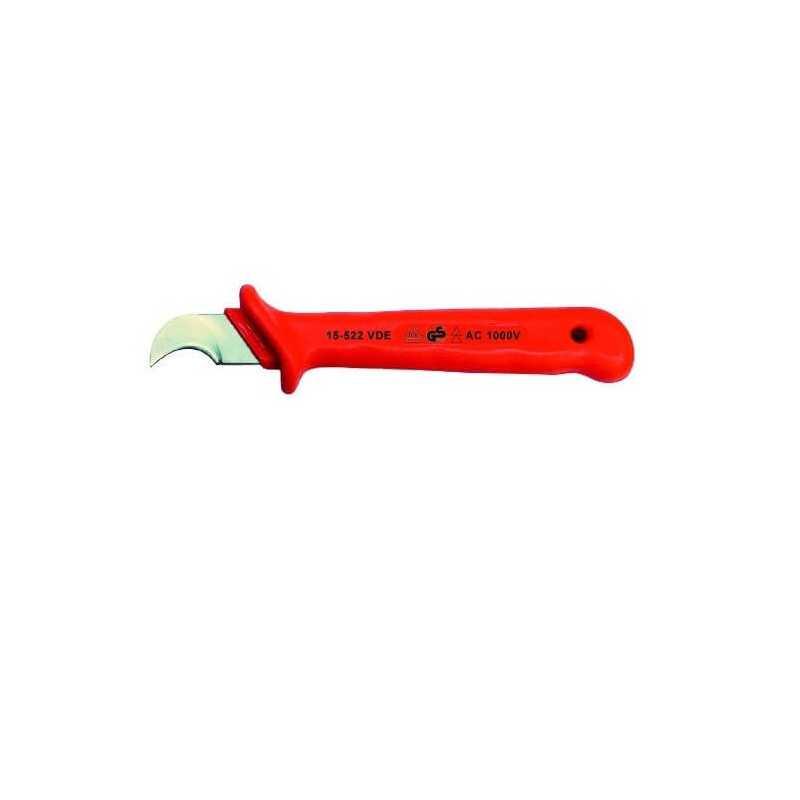 Cuchillo Pelacables Corvo Cromado Aislado Bernstein 15-522VDE