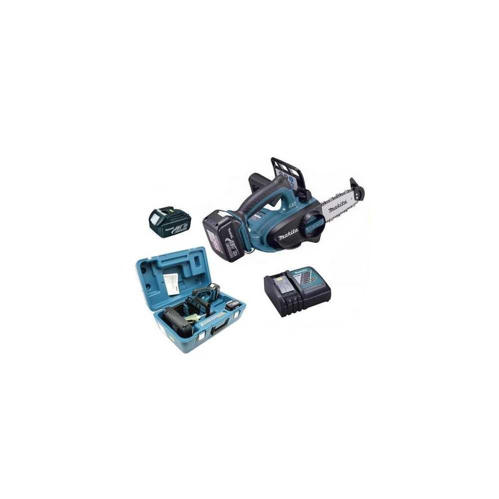 "Electrosierra 4-1/2"" (115 mm) - 2,6 kg + 2 baterías 18V 3.0 Ah + Cargador Makita DUC122RFE"