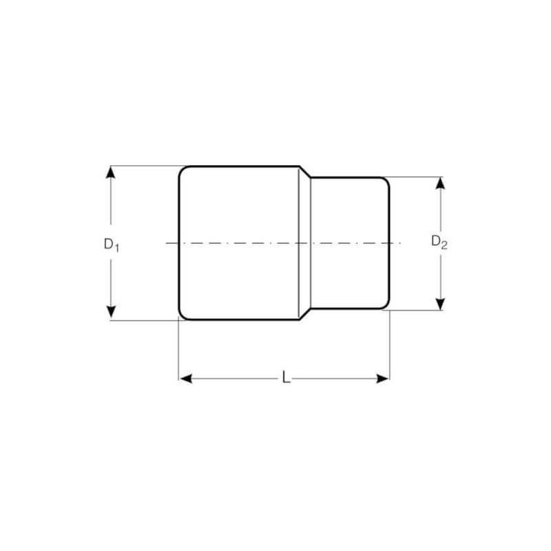 "Dado Hexagonal 1/2"" x 10 mm Bahco 7800SM-10"