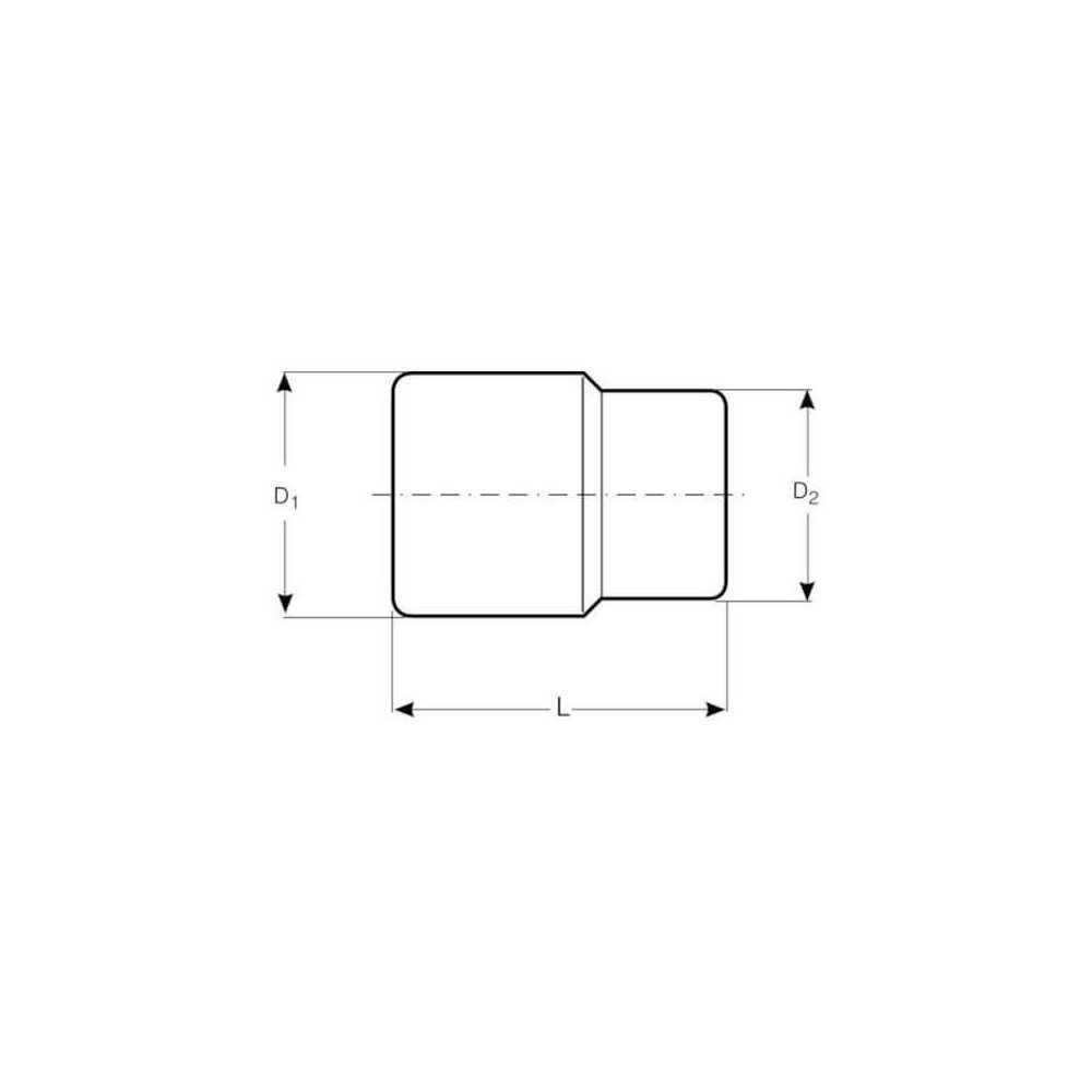 "Dado Hexagonal 1/2"" x 12 mm Bahco 7800SM-12"