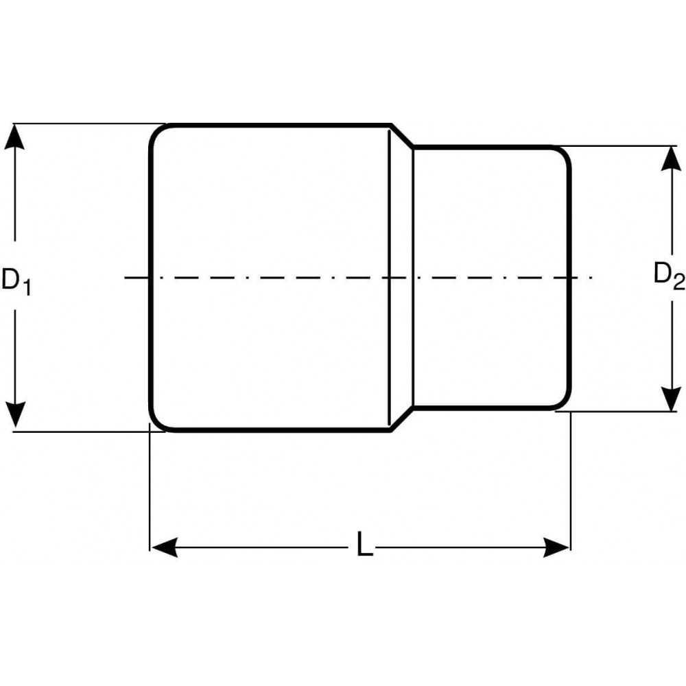 """Dado Poligonal Largo 1/2"""" x 16 mm Bahco 7805DM-16"""
