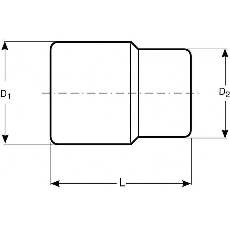 """Dado Poligonal Largo 1/2"""" x 27 mm Bahco 7805DM-27"""