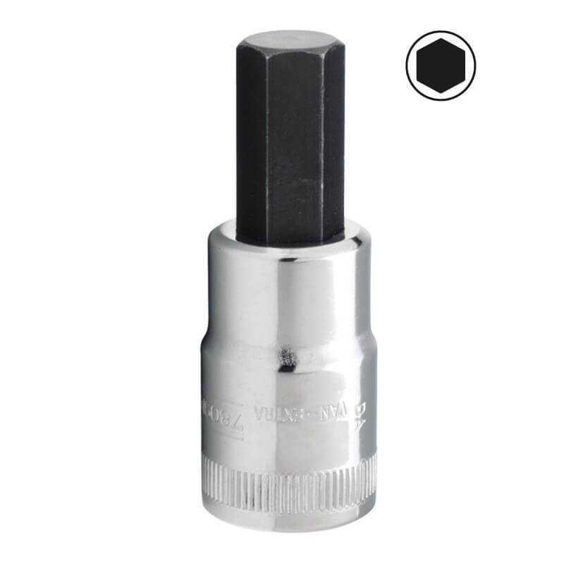 "Dado Destornillador Hexagonal 1/2"" x 7 mm x 100 mm Bahco 7809M-7-100"