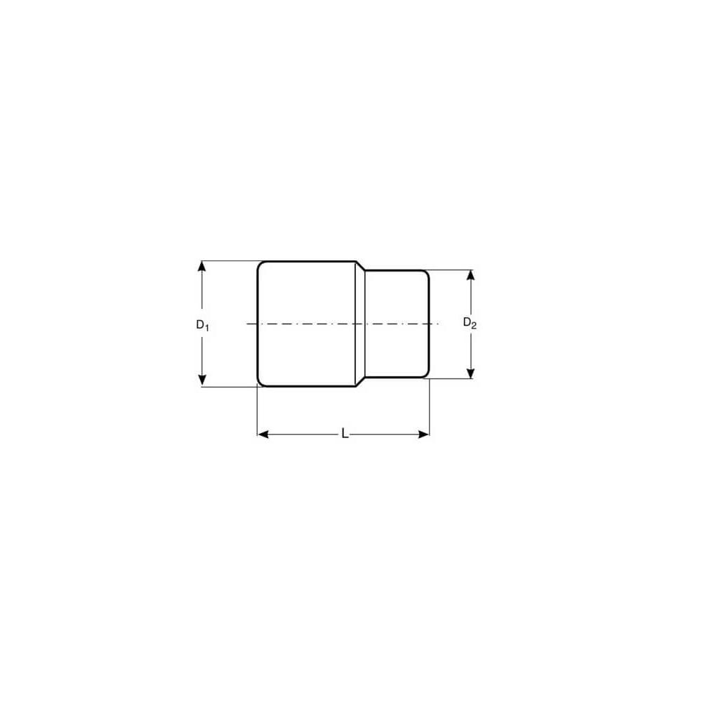 """Dado TORX-E 1/2"""" x 8 mm Hembra Bahco 7800TORX-E8"""