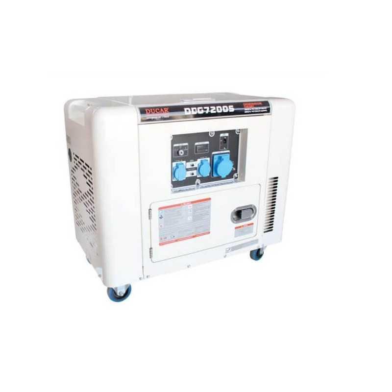 Generador Eléctrico Diesel 6.5Kw / 8.7hp Ducar DDG7200S