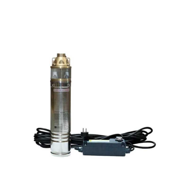 """Bomba de Agua Pozo profundo 4"""" Monoblock 1 HP / 0.75 Kw Para aguas limpias Hyundai 82HY4SKM100M"""