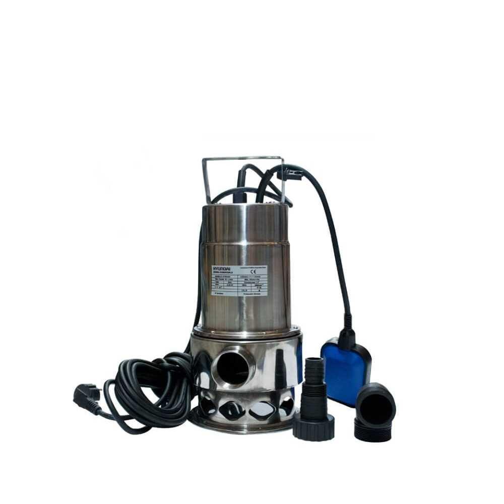 Bomba de Agua Pozo Profundo Para Aguas Limpias y Sucias 0.5HP / 0.37 KW Hyundai 82HYSD400M
