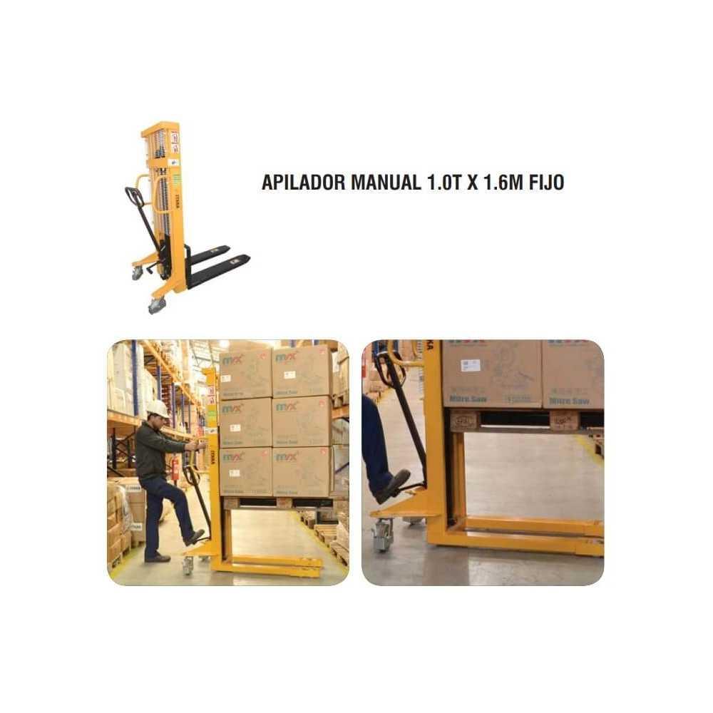 Apilador Manual 1.0 T x 1.6 M Fijo Itaka SDJ1000