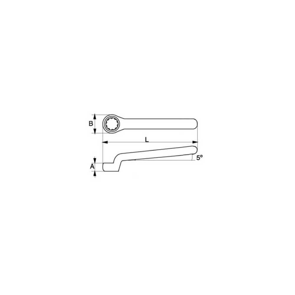 Llave Estrella Acodada Aislada de una Boca 15 MM Bahco 2MV-15