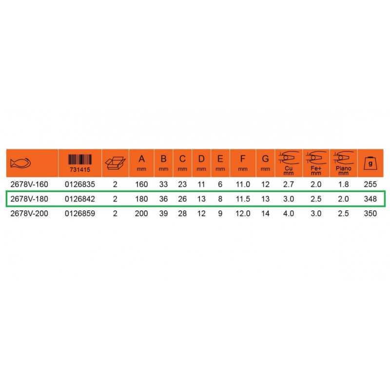 """Alicate Aislado Universal 7"""" 1000 VLT Bahco 2678V-180"""