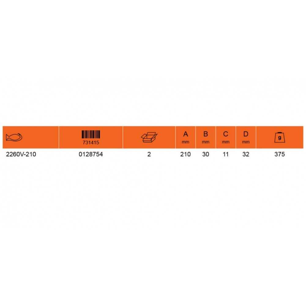 """Alicate Aislado Cortacable para COBRE-ALUMINIO 8"""" Bahco 2260V-210"""