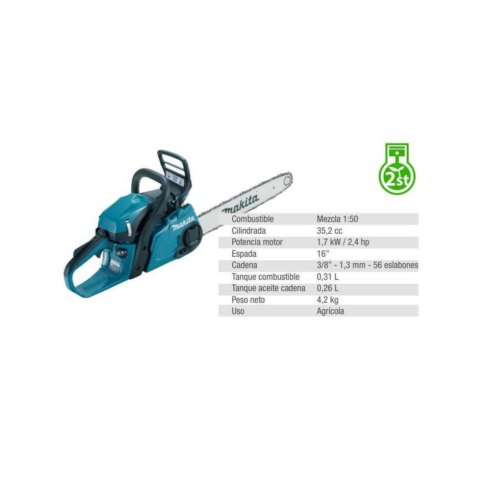 "Motosierra 16"" (400 mm) 1.7 kW / 2.4 hp Makita EA3601F40B"