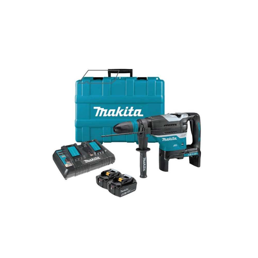 Rotomartillo con Batería DHR400 + 1 Cargador Rápido Doble + Maleta Makita DHR400PT2