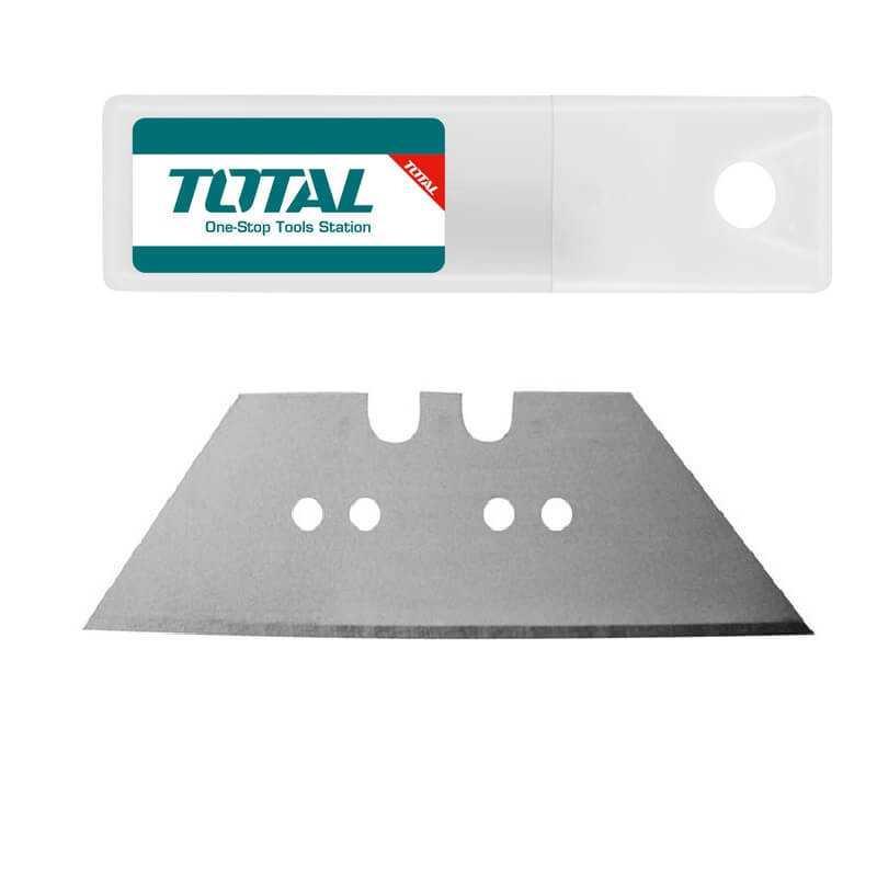 Set Hojas Cuchillo Cartonero Retráctil 10 pcs Total Tools THT519611