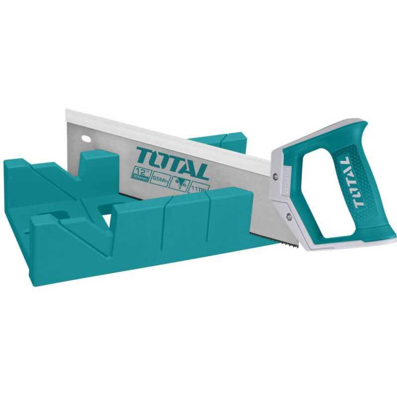 """Serrucho Costilla con caja 12"""" Total Tools THT59126"""