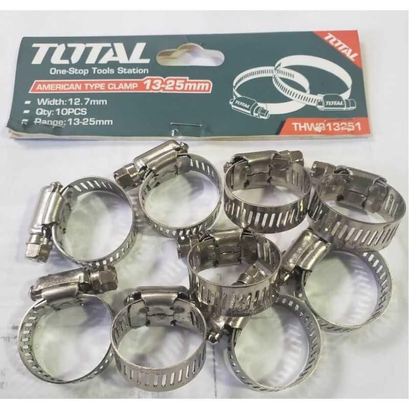 Abrazadera Acero Inox 13 - 25mm Total Tools THW913251