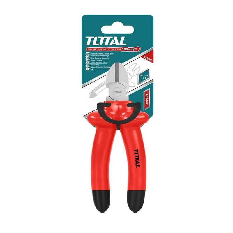 "Alicate Aislado Corte Diagonal 6"" ( 160 mm) Total Tools THTIP261"