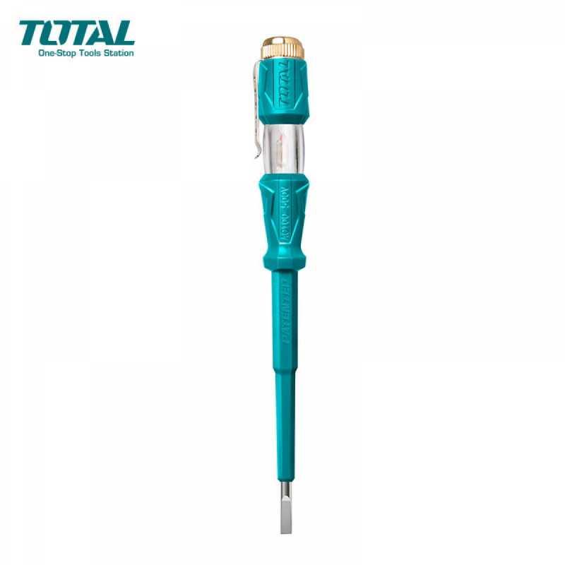 Destornillador Aislado Probador de Tensión 3mm x 140mm 100-500V Total Tools THT291408